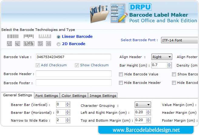 Label design tool creates free barcode