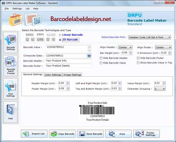 Design Barcode Label screenshot